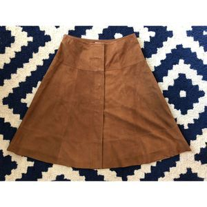 Joie BEAUTIFUL!  Saddle Brown Goat leather skirt